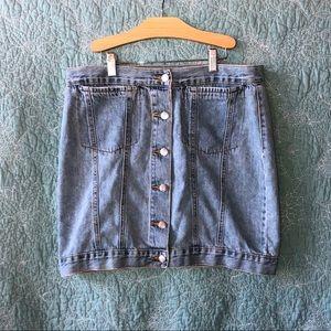 Button Up Jean Skirt🖤